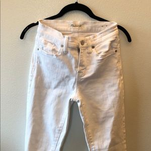 Madewell White High Riser Skinny Jeans Size 24